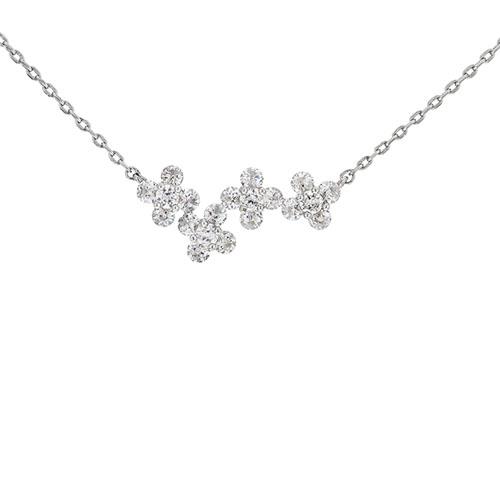 collier femme argent zirconium 8500049