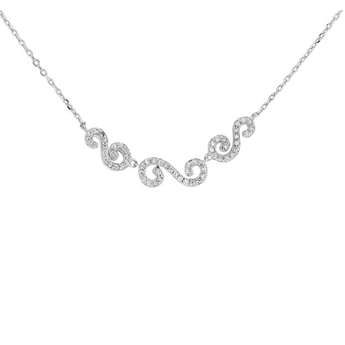 collier femme argent zirconium 8500050
