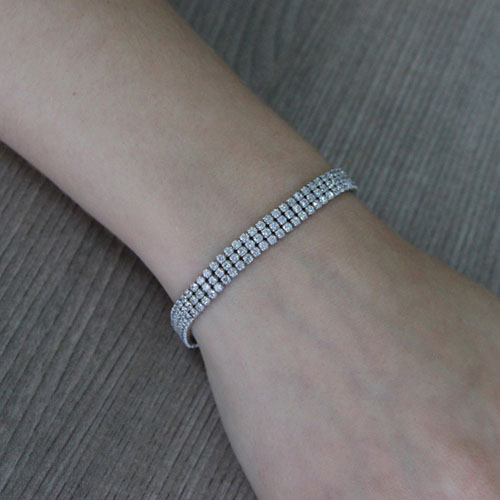 collier femme argent zirconium 9500405 pic4