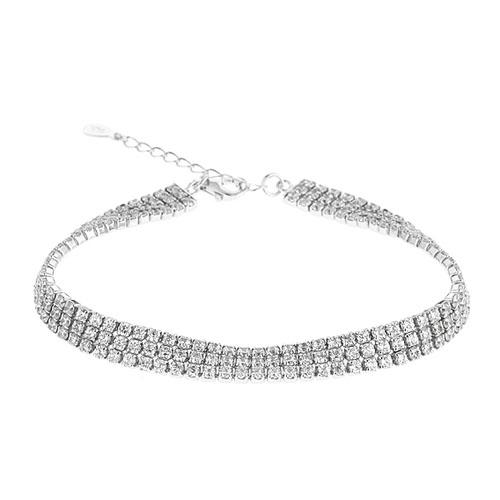 collier femme argent zirconium 9500405
