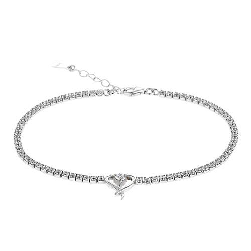 collier femme argent zirconium 9500408