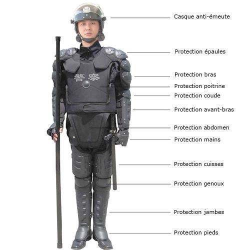 Protection tibia & genou Combinaison_anti_emeute_RIOT3