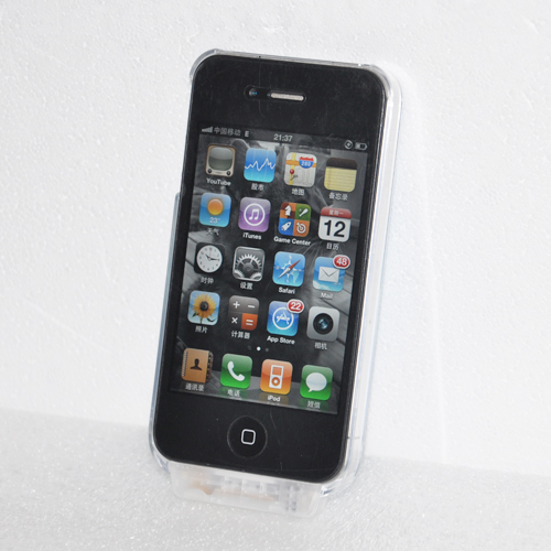 coque crystal lumineuse 7 couleurs pour iphone 4 et 4s. Black Bedroom Furniture Sets. Home Design Ideas