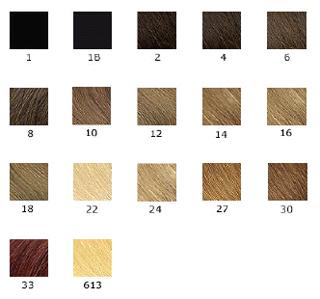 Catalogue des couleurs de cheveux