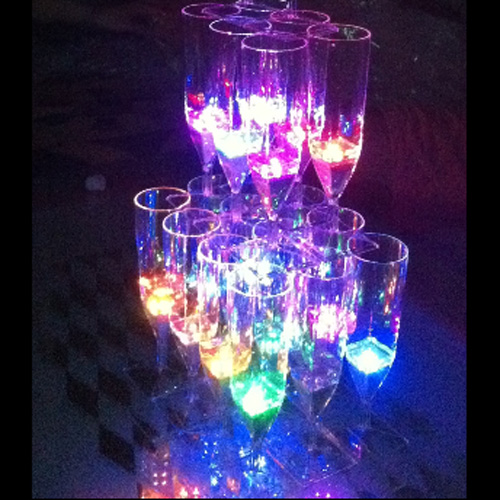 coupe champagne lumineuse led pic2