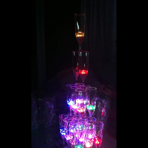 coupe champagne lumineuse led pic3