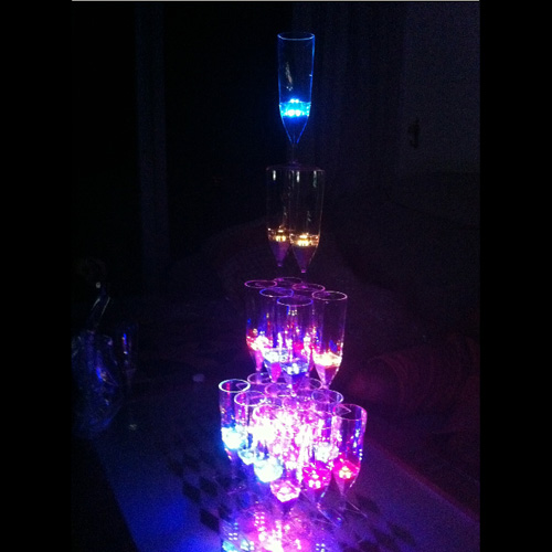 coupe champagne lumineuse led pic4