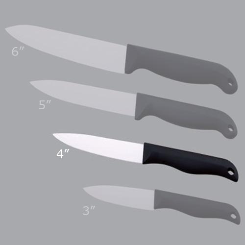couteau ceramique simple face poli 4p
