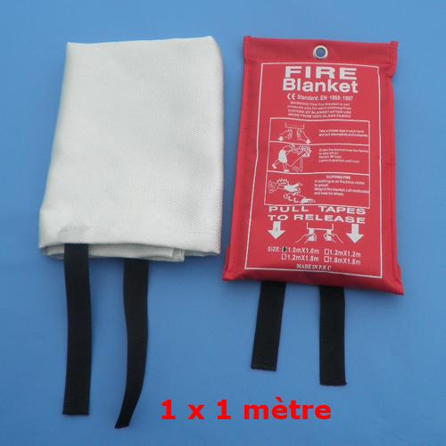couverture anti feu 1x1m sac