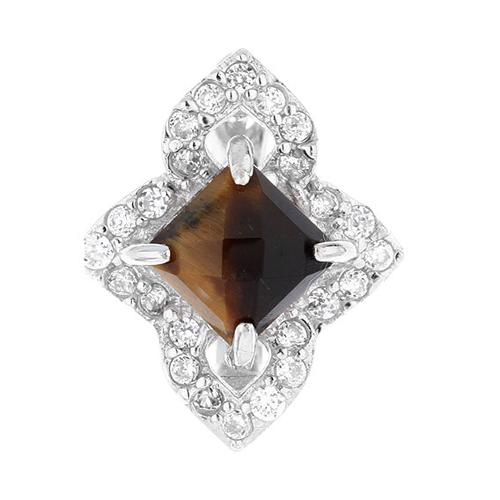 dormeuse femme argent diamant 8700060 pic2