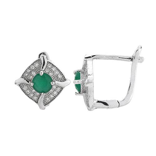 dormeuse femme argent diamant 8700173