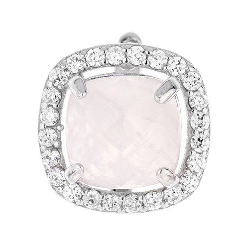 dormeuse femme argent zirconium cristal 8700064 pic2