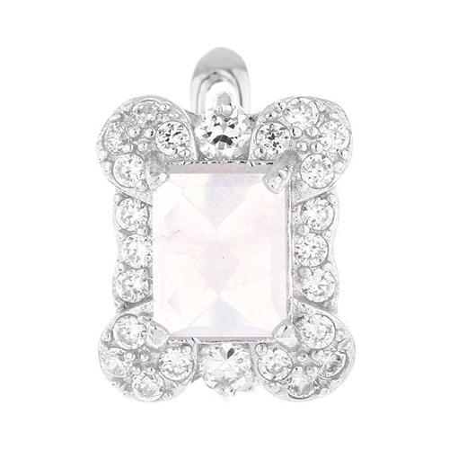 dormeuse femme argent zirconium cristal 8700069 pic2