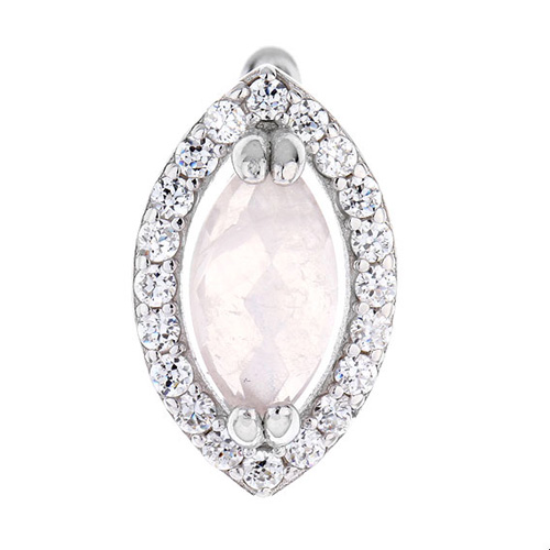 dormeuse femme argent zirconium cristal 8700071 pic2