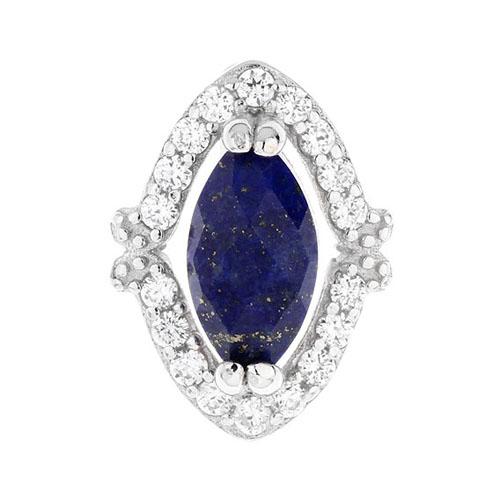 dormeuse femme argent zirconium diamant 8700057 pic2