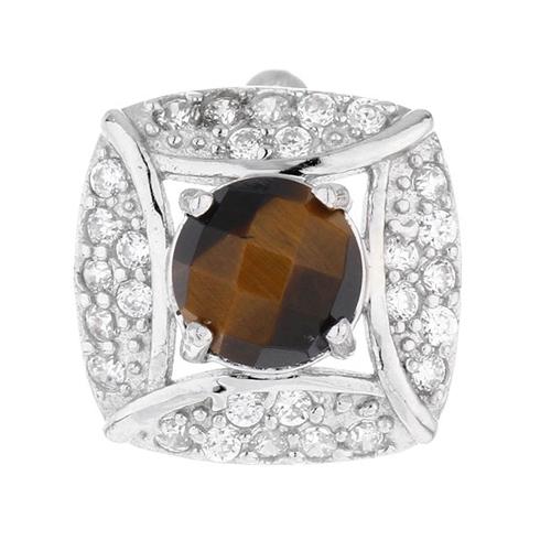 dormeuse femme argent zirconium diamant 8700059 pic2