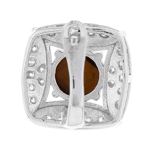 dormeuse femme argent zirconium diamant 8700059 pic4