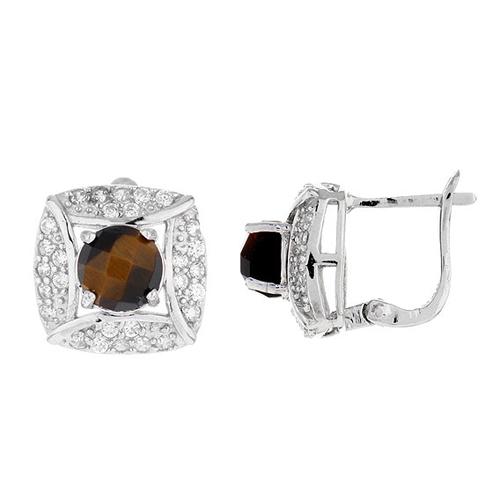 dormeuse femme argent zirconium diamant 8700059