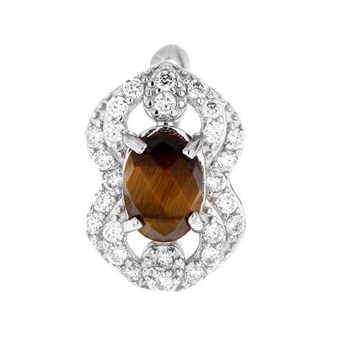 dormeuse femme argent zirconium diamant 8700061 pic2