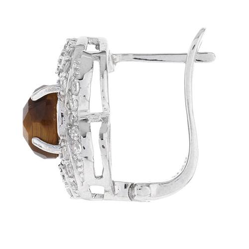 dormeuse femme argent zirconium diamant 8700061 pic3