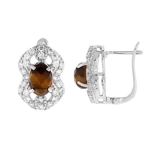 dormeuse femme argent zirconium diamant 8700061