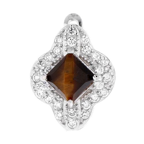 dormeuse femme argent zirconium diamant 8700062 pic2