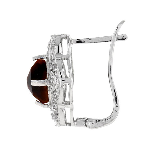 dormeuse femme argent zirconium diamant 8700062 pic3