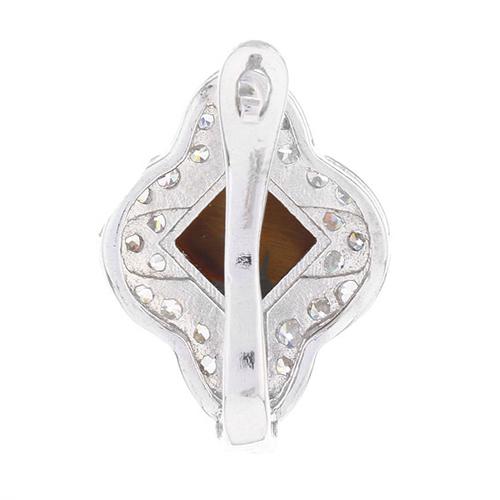 dormeuse femme argent zirconium diamant 8700062 pic4