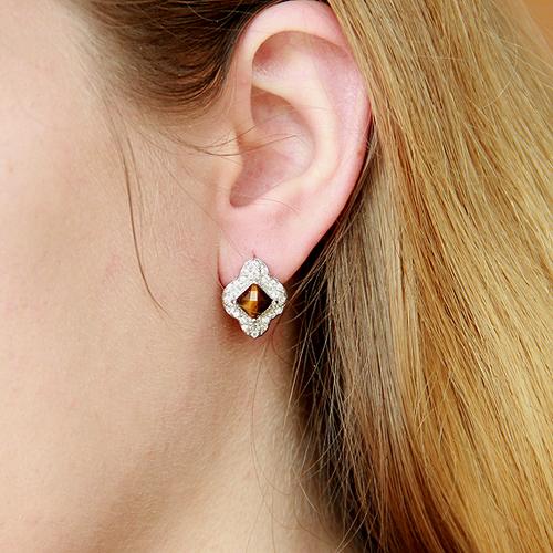 dormeuse femme argent zirconium diamant 8700062 pic5