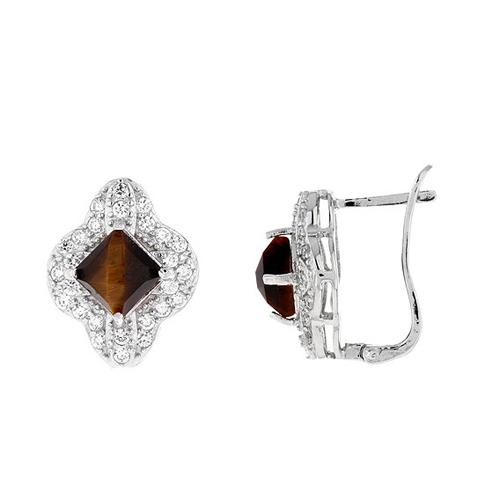 dormeuse femme argent zirconium diamant 8700062
