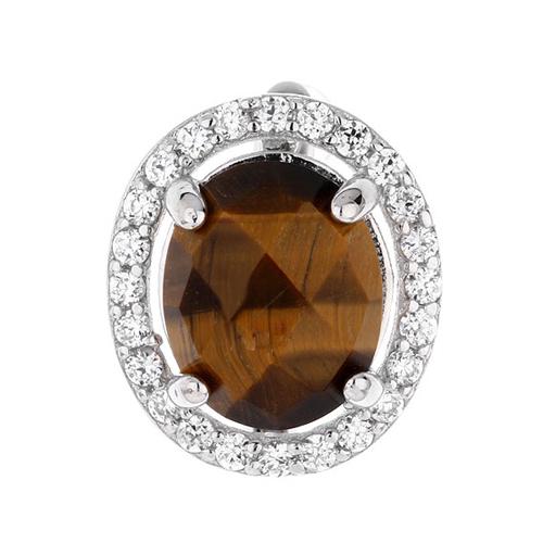 dormeuse femme argent zirconium diamant 8700063 pic2