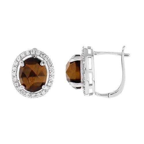 dormeuse femme argent zirconium diamant 8700063