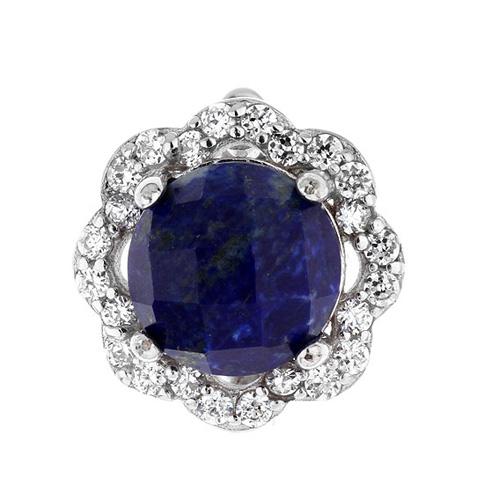 dormeuse femme argent zirconium diamant 8700072 pic2