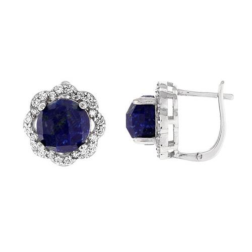 dormeuse femme argent zirconium diamant 8700072