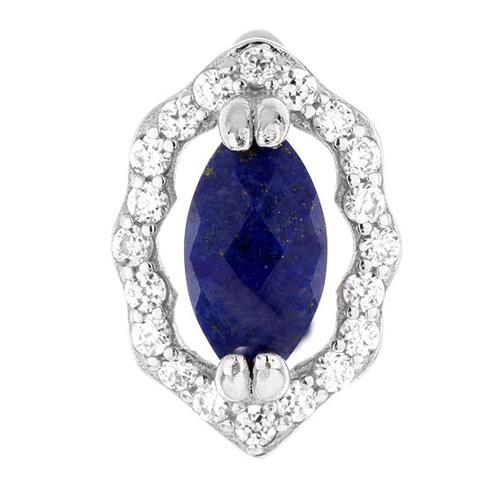dormeuse femme argent zirconium diamant 8700073 pic2