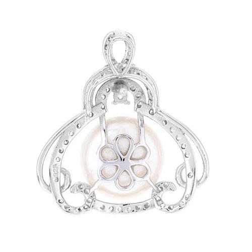 dormeuse femme argent zirconium perle 8700100 pic4