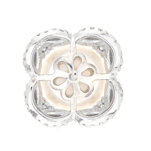 dormeuse femme argent zirconium perle 8700102 pic4