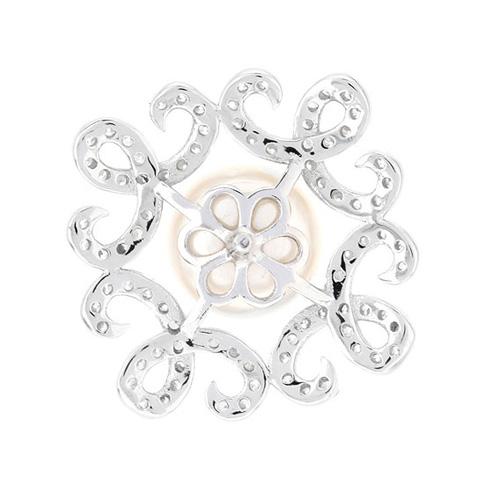 dormeuse femme argent zirconium perle 8700104 pic4