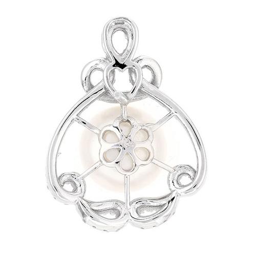 dormeuse femme argent zirconium perle 8700105 pic4