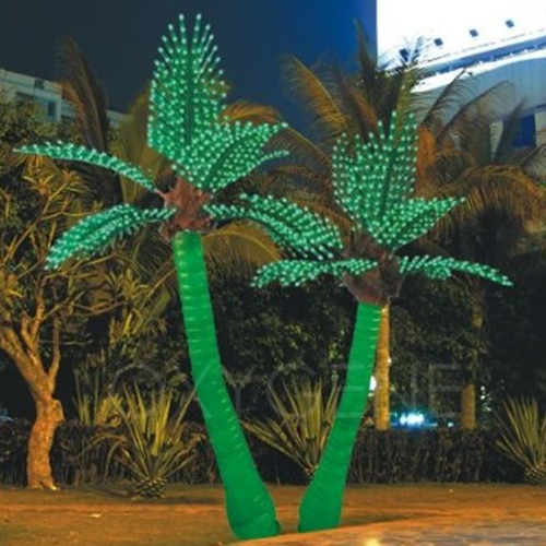 double palmier lumineux led