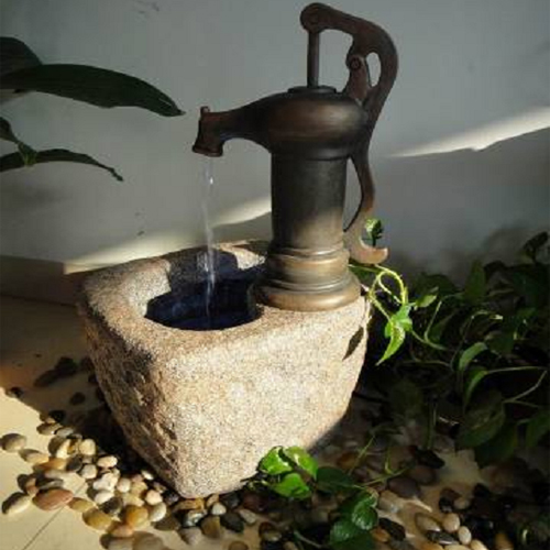 Fontaine d 39 int rieur ancienne pompe eau sur grossiste for Grossiste decoration interieur