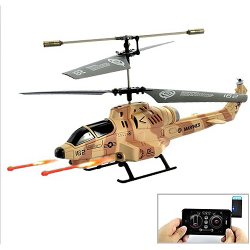 helicoptere de combat cobra radio commande android iphone