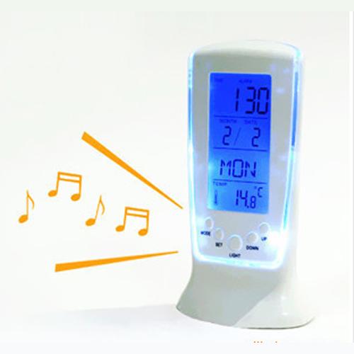 horloge calendrier reveil thermometre led