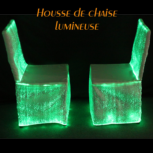 housse chaise lumineuse