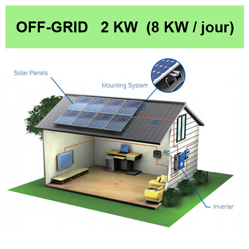 kit solaire 2KW off grid