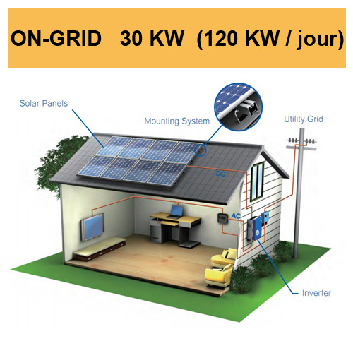 kit solaire 30KW on grid