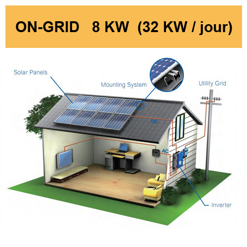 kit solaire 8KW on grid