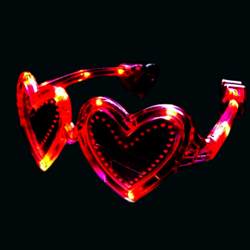 lunettes lumineuses led coeur SGT2