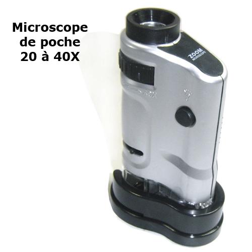 microscope de poche 20 40X