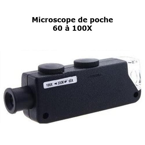 microscope de poche 60 100X